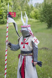 Knight. Minsk, Belarus - June 18, 2016: Festival The Age of chivalry - mounted knights tournament Stock Image