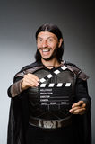 Knight with the movie Royalty Free Stock Photos