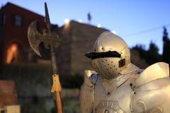 Knight at night Stock Image