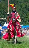 Knight no cavalo fotografia de stock royalty free