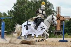 Knight no cavalo fotografia de stock