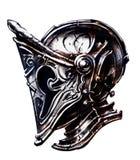 Knight o capacete do ` s feito em um estilo incomum ilustração do vetor