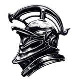 Knight o capacete do ` s feito no estilo incomum ilustração stock