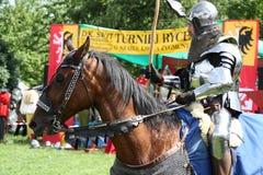 Knight On Horseback Stock Photo