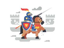 Free Knight On Horseback Character Stock Images - 100861864