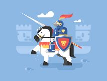 Free Knight On Horseback Character Stock Photography - 70038472