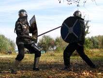 Knight and panoply 10 Stock Images