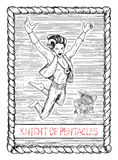 Knight of pentacles. The tarot card. Stock Image