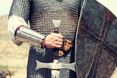 Knight. Photo in vintage style.  Royalty Free Stock Image