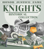Knight Poster Illustration Royalty Free Stock Images