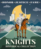 Knight Poster Illustration Stock Images
