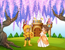 Knight and princess Stock Images