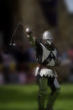 Knight ready for battle. / tournament at Warkworth Castle Northumberland Stock Photos