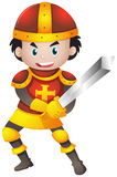 Knight with red armour. Illustration Royalty Free Stock Photos