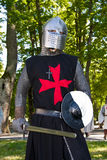 Knight from red cross order Stock Image