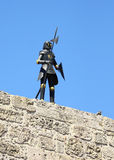 Knight in Rhodes Town Royalty Free Stock Images