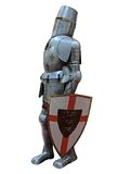 Knight's armor sideview. Armour of the medieval knight-crusader. Shield Richard the Lionheart Royalty Free Stock Photography