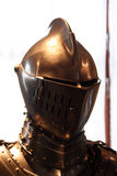 Knight's armour. Armour of knight from medieval times stock photo