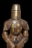 Knight's armour isolated on black background Stock Image