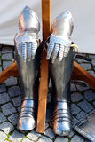 Knight's Armour Outer Part. The outer part of a knights armour seen at the medieval market in Ulm-Söflingen, South-Germany Royalty Free Stock Images