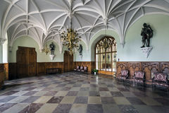 Knight`s Hall in Lednice Castle. royalty free stock photo
