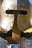 Knight`s helmet and armour Royalty Free Stock Photos