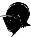 Knight`s helmet Royalty Free Stock Images