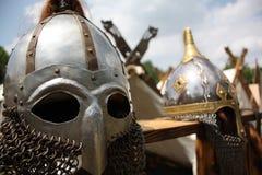 Knight's helmets Royalty Free Stock Photo