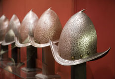Knight's Helmets Royalty Free Stock Image