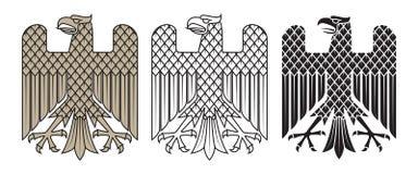 Knight`s heraldic emblem. German heraldic eagle Royalty Free Stock Photos