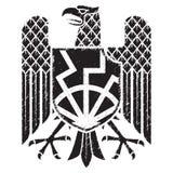 Knight`s heraldic emblem. German heraldic shield with an eagle Stock Image