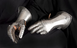 Knight's metal glove. Element protective armor Stock Image