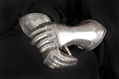 Knight's metal glove Royalty Free Stock Images