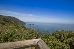 Knight`s Point lookout in New Zealand royalty free stock photos