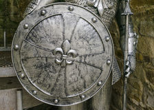 Knight's shield. Details of armor medieval knight Stock Photos