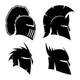 Knight's and Spartan helmets. Royalty Free Stock Images