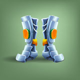 Knight's steel boots. Stock Image