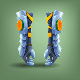 Knight's steel gauntlets. Royalty Free Stock Images