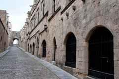 Knight's street at Rhodes. Greece Stock Photography