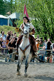 Knight's tournament. Woman rider to Knight's tournament Stock Photography