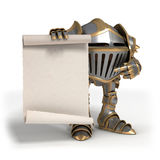 Knight with a scroll Royalty Free Stock Image