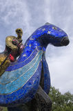 Knight sculpture composed of mosaics Royalty Free Stock Images