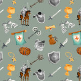 Knight Seamless Pattern Stock Photo