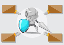 Knight Security Protect Guard Safe Vector Royalty Free Stock Photo