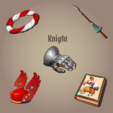 Knight set, part of the vestments, five items Stock Photography