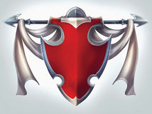Knight Shield Emblem Stock Image