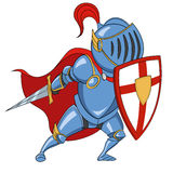 Knight. With shield. Vector illustration Royalty Free Stock Image