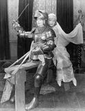 KNIGHT IN SHINING ARMOR Royalty Free Stock Images