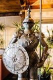 Knight in shining armor stock photo