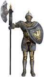 Knight, Shining Armor, Isolated Illustration Stock Photos